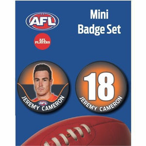 Mini Player Badge Set - GWS Giants - Jeremy Cameron