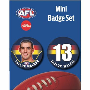 Mini Player Badge Set - Adelaide Crows - Taylor Walker