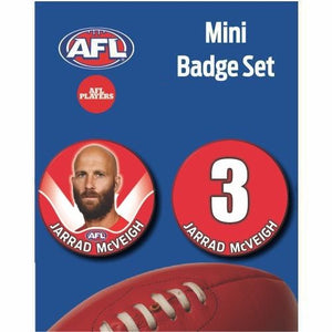 Mini Player Badge Set - Sydney Swans - Jarrad McVeigh
