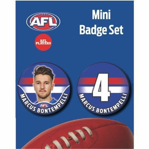 Mini Player Badge Set - Western Bulldogs - Marcus Bontempelli