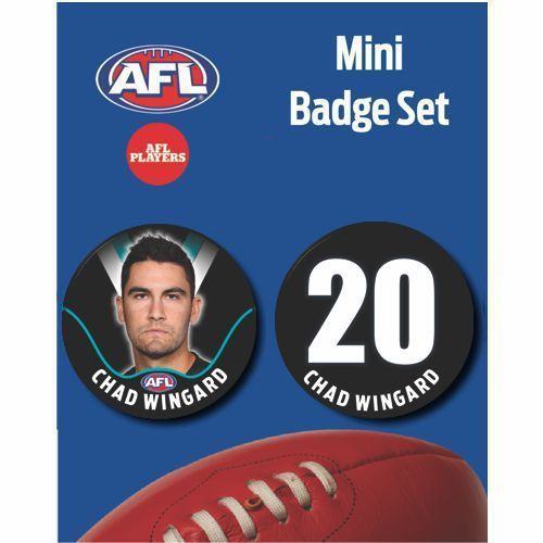 Mini Player Badge Set - Port Adelaide Power - Chad Wingard
