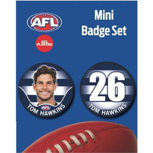 Mini Player Badge Set - Geelong Cats - Tom Hawkins