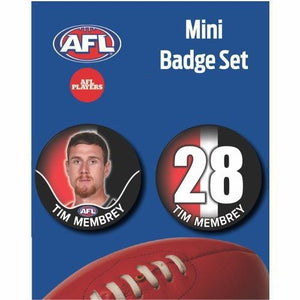 Mini Player Badge Set - St Kilda Saints - Tim Membrey