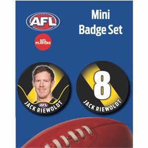 Mini Player Badge Set - Richmond Tigers - Jack Riewoldt