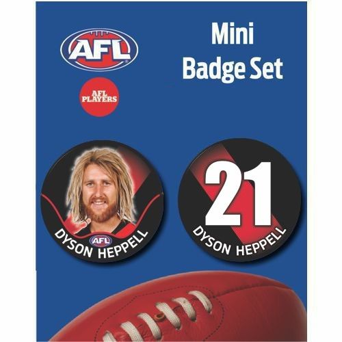Mini Player Badge Set - Essendon Bombers - Dyson Heppell