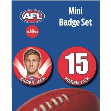 Mini Player Badge Set - Sydney Swans - Kieren Jack