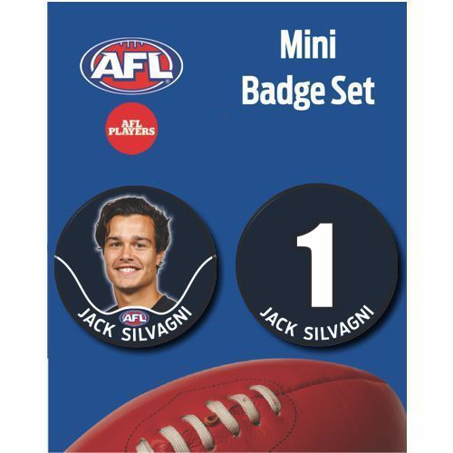Mini Player Badge Set - Carlton Blues - Jack Silvagni