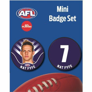 Mini Player Badge Set - Fremantle Dockers - Nat Fyfe