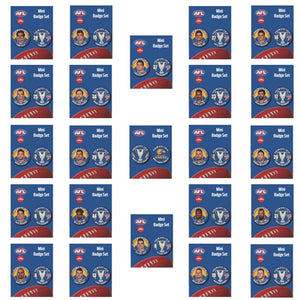 COLLECTORS SET OF 22 PREMIERS MINI PLAYER BADGE SET PLUS PREMIERS MINI BADGE SET