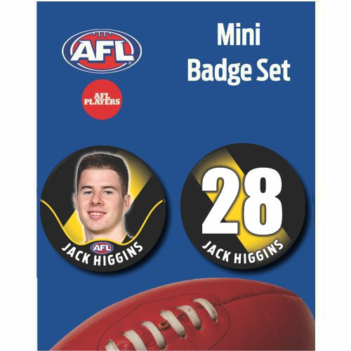 Mini Player Badge Set - Richmond Tigers - Jack Higgins