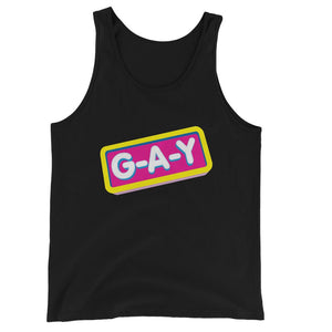 Jersey Tank Top G-A-Y