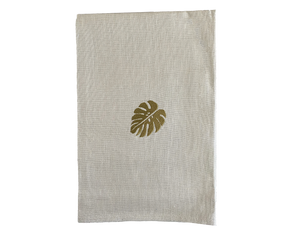 Linen Napkin Small Monstera Set