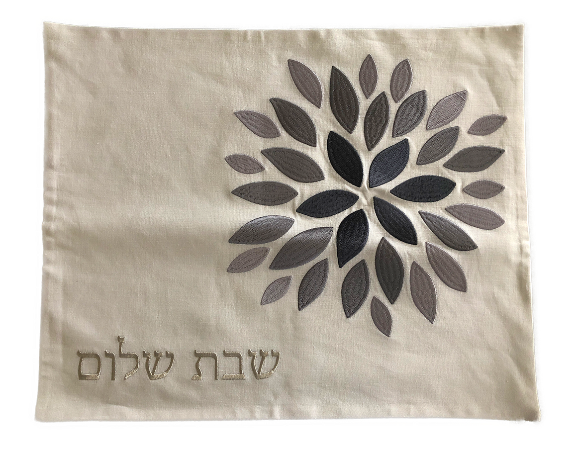 Challah Cover Flowers Abstract