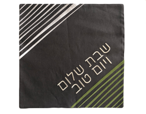 Challah Cover Square with Lines