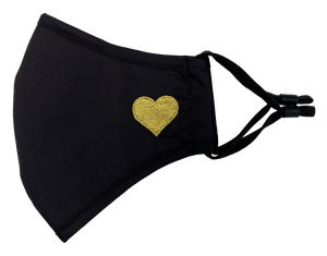 Heart Mask Black and Gold