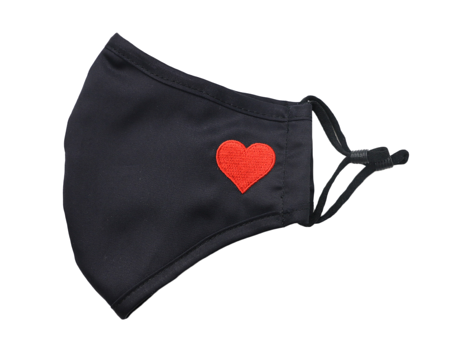 Heart Mask Black and Red