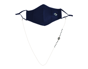 Evil Eye Mask Navy & Mask Chain