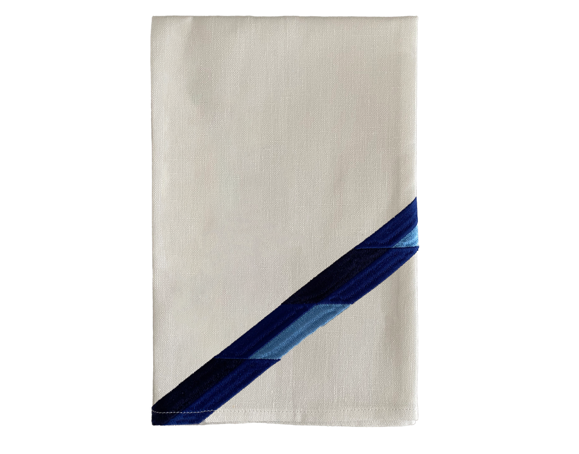 Linen Napkin Blue Stripe Set