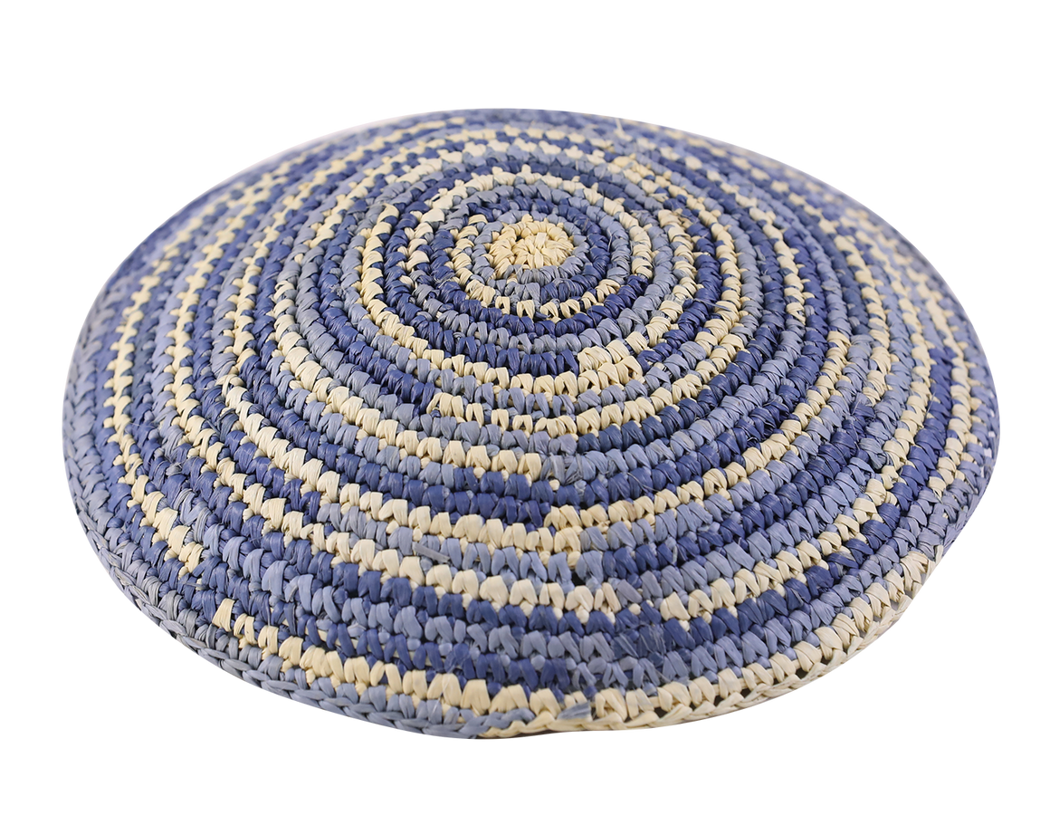 Straw Crochet Mixed Kippot