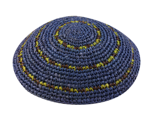 Straw Crochet Double Dots Kippot
