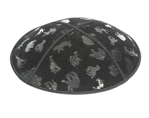 Suede Embossed Animals Kippot