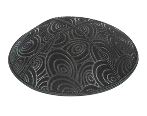 Suede Embossed Circles Kippot
