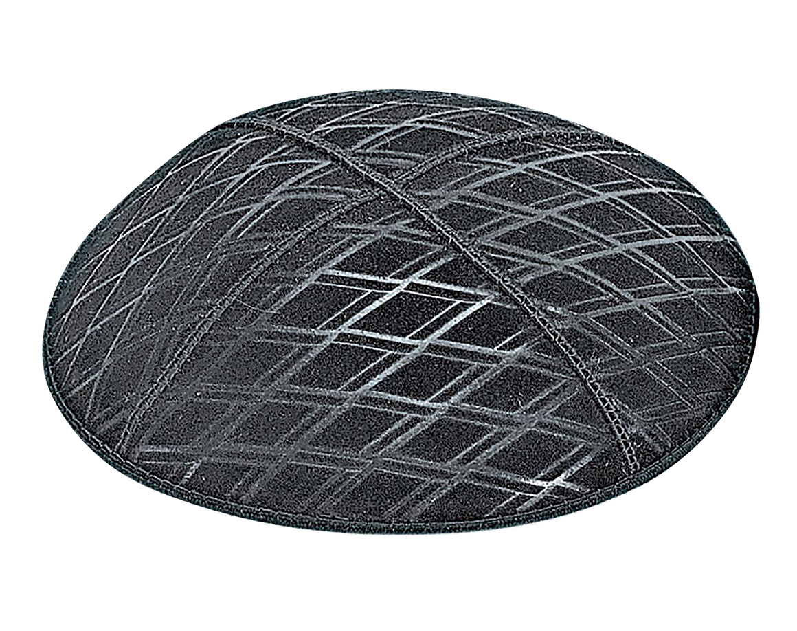 Suede Embossed Diamond Kippot