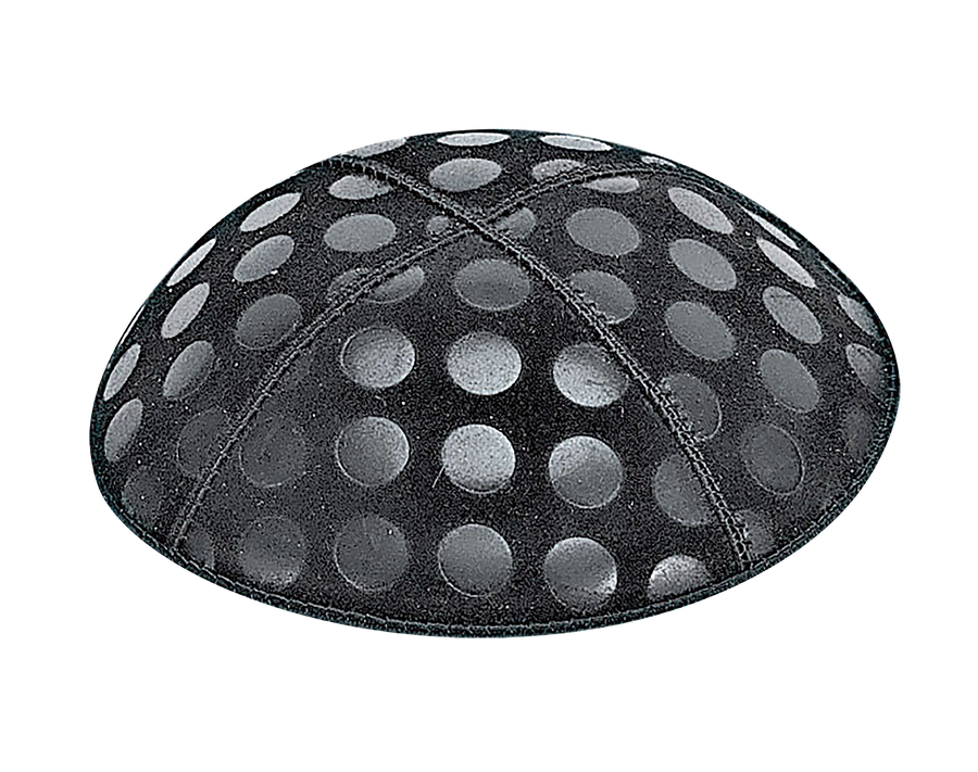 Suede Embossed Dots Large Kippot