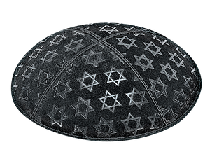 Suede Embossed Maguen David Large Kippot