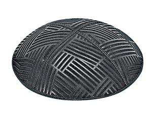 Suede Embossed Mosaic Kippot