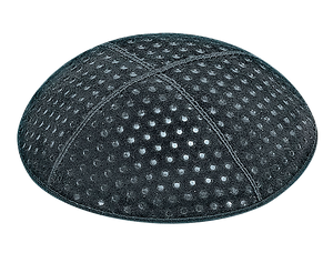 Suede Embossed Pin Dots Kippot
