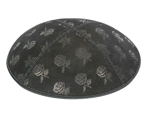 Suede Embossed Roses Kippot
