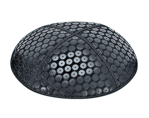 Suede Embossed Sequins Kippot