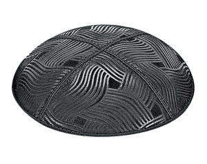Suede Embossed Spaghetti Kippot