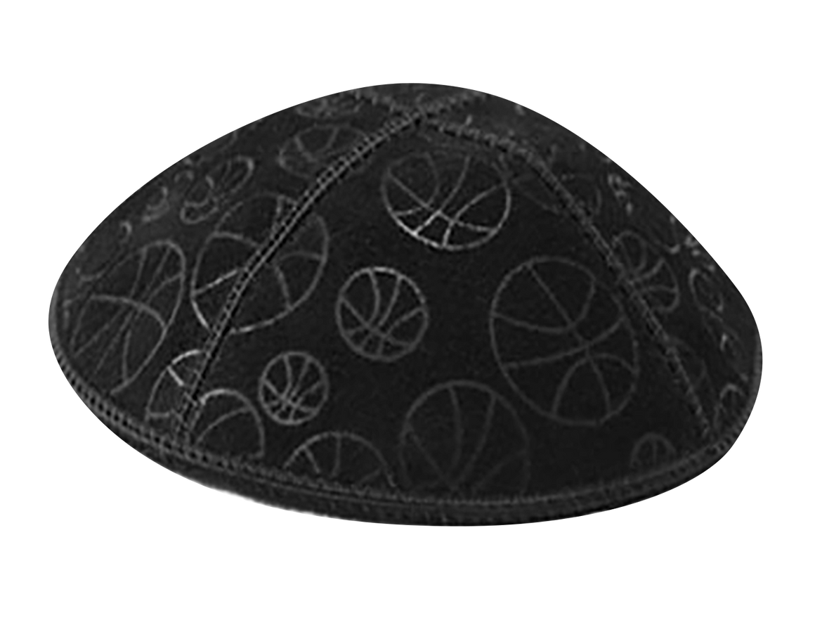 Suede Embossed Basketball Kippot