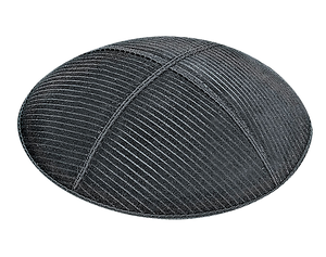 Suede Embossed Thin Lines Kippot