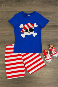 Ahoy Matey Pirate Short Set
