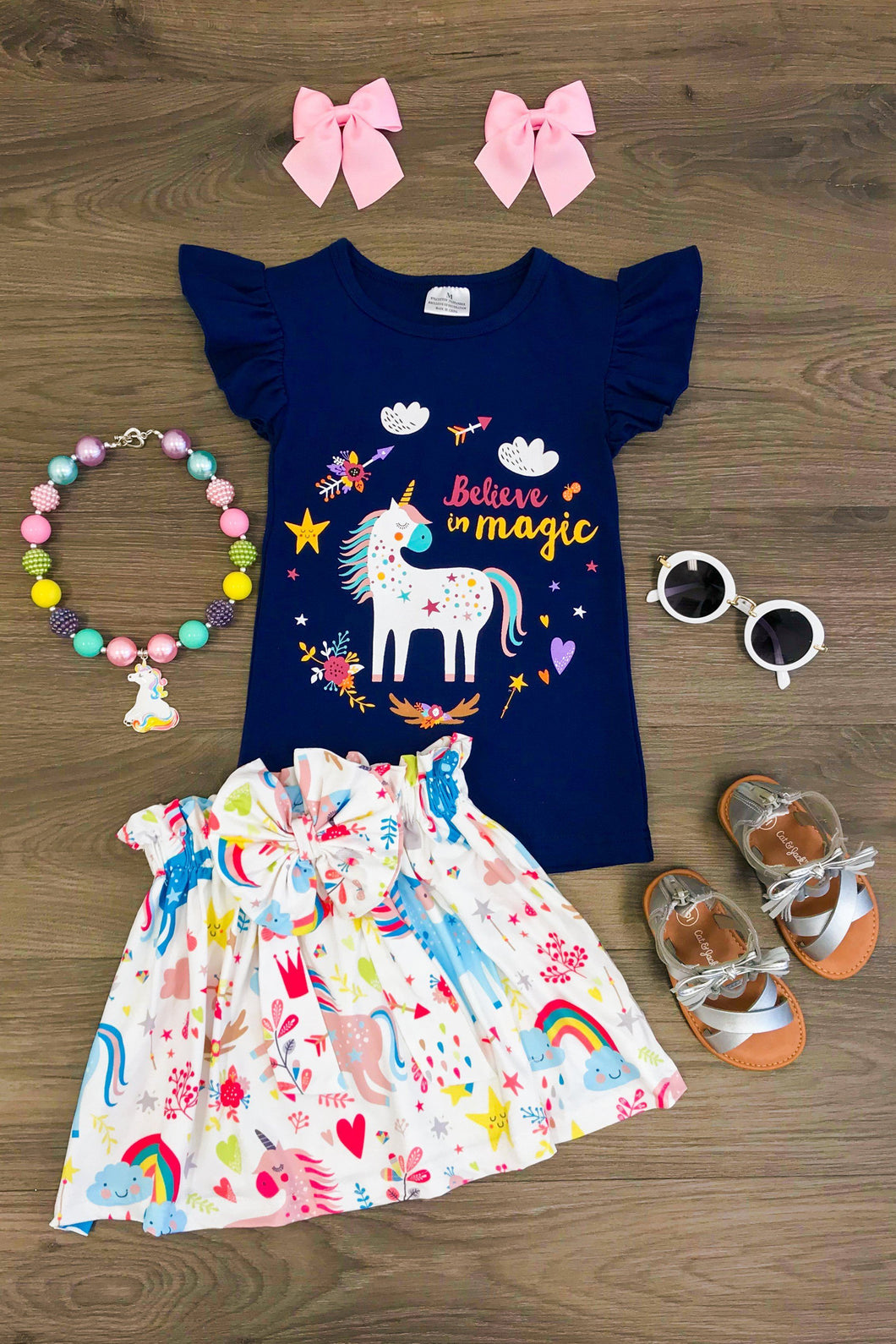 Believe in Magic Unicorn Skirt Set