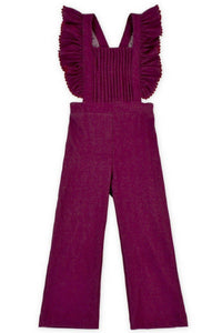Burgundy Brielle Ruffle Jumpsuit