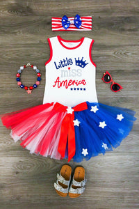 Little Miss America Skirt Set