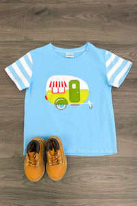Light Blue Happy Camper Shirt