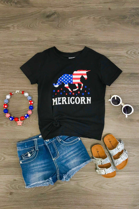 Mericorn Black Unicorn T-Shirt