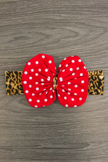 Minnie Cheetah Cotton Bow Headband
