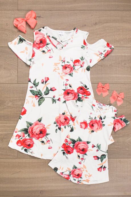 Mom & Mia - Olivia Floral Dress