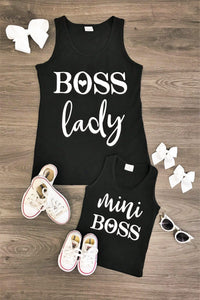 Mom n Mia - Matching Boss Lady and Mini Boss Tank Top