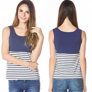 Striped Nursing Tank Top