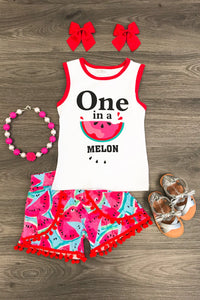 One in a Melon Shirt and Short Set