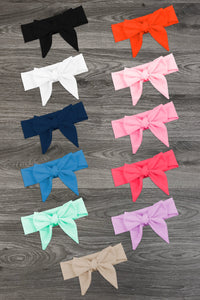 Colored Tie Headbands - Many Colors