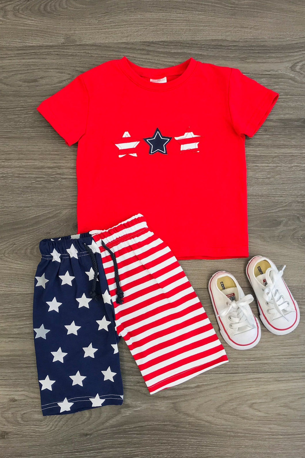 Star Spangled Banner Short Set
