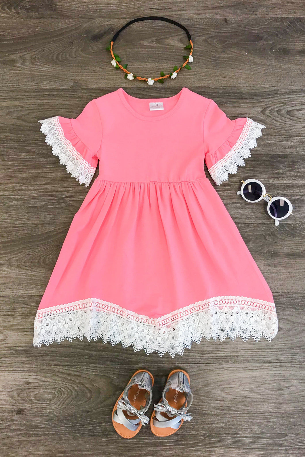 Bubblegum Pink Lace Dress